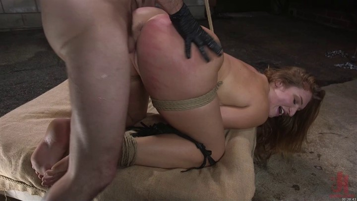 Slutty Skylar Snow gets her ass flogged caned and fucked